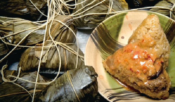 市場裡的肉粽又有北部粽與南部粽之分